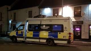 A Gwent police van on Caerleon High Street
