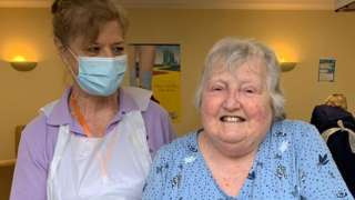 Care home resident Shirley Smith