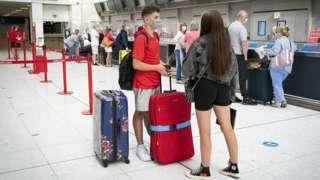 boy and girl at airport