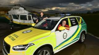 Air ambulance with volunteers