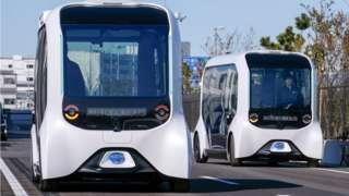 Toyota's e-Palette driverless vehicles.