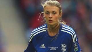 Ellie Brazil in action for Birmingham City Women