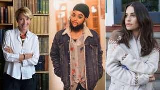 Emma Thompson, Harnaam Kaur and Lea Michele