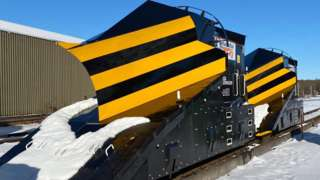 Train plough