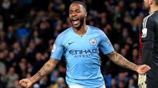 Man City 3-1 Watford  Sterling hat-trick lifts leaders clear of Liverpool -  BBC Sport c7159f943100