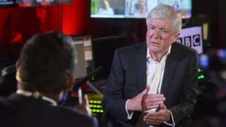 Lord Tony Hall was interviewed by Amol Rajan