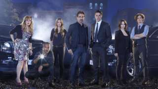 Criminal Minds cast members Kirsten Vangsness, Shemar Moore, AJ Cook, Joe Mantegna, Thomas Gibson, Jennifer Love Hewitt and Matthew Gray Gubler