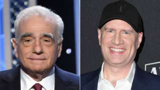 Martin Scorsese and Kevin Feige