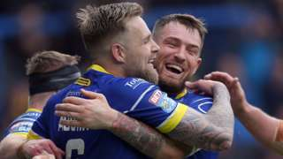 Warrington players celebrate
