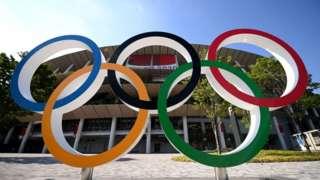 Sân vận động Olympic vào ngày 23 tháng 7 năm 2021 ở Tokyo, Nhật Bản