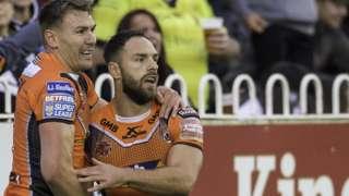 Castleford Tigers celebrate
