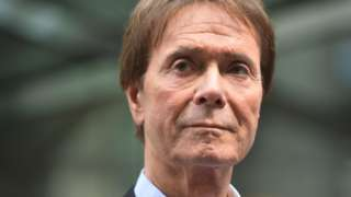 Sir Cliff Richard outside court