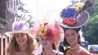 皇家赛马会上的女礼帽