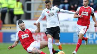Match action from Rotherham v Swansea