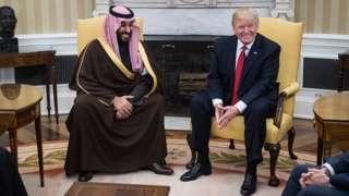 Muhammed bin Salman ve Donald Trump