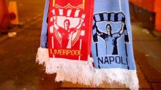 Liverpool v Napoli scarf