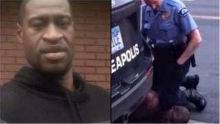 George Floyd di black American wey die for police custody