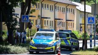Police at crime scene in Espelkamp, 17 Jun 21