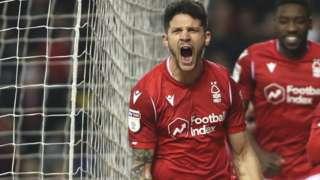 Tobias Figueiredo celebrates for Forest