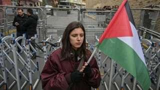 Joven protesta en Estambul