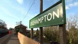 Okehampton train station