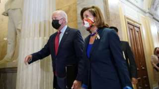 Mr Biden and top Democrat Nancy Pelosi
