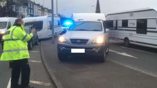 Officer at scene of the pursuit in Caernarfon