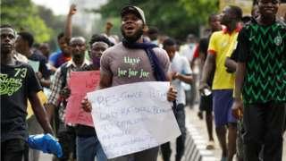 endsars protest in Lagos