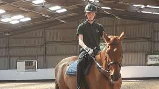 Hari on a horse