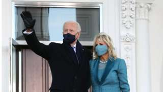 Biden outside the White House