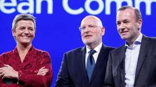 Suparnici za poziciju predsednika, debata u Briselu, 15. maj 2019