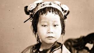 中国女孩(广东,1869-70年)。