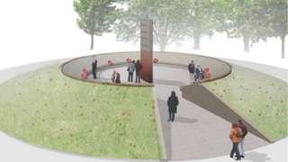 Artists impression of memorial