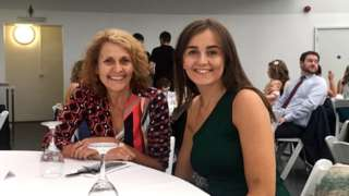 Mali Elwy (right) and her mother Sioned