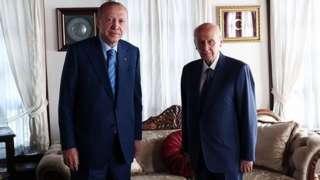 Cumhurbaşkanı Recep Tayyip Erdoğan ve MHP Genel Başkanı Devlet Bahçeli