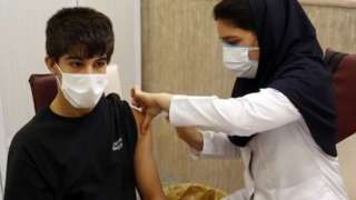 Iranian student gets vaccinated against coronavirus (07/10/21)