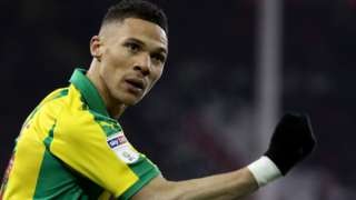 Kieran Gibbs celebrates for West Brom at Sheffield United