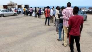 Libya göçmenler