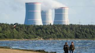The Leningrad Nuclear Power Plant in the town of Sosnovy Bor on the southern shore of the Gulf of Finland