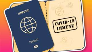 An illustration of a Covid passport