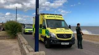 Coastguard and EEAST at the scene in Felixstowe