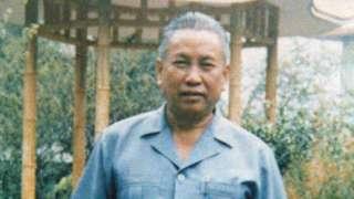 Pol Pot in China in 1988