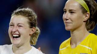 Karen Bardsley and Ellen White