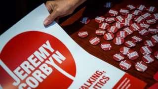 Jeremy Corbyn badges
