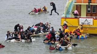 Poole Harbour bath tub race