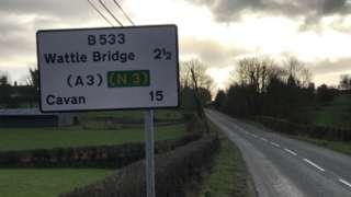 Wattle Bridge road sign