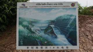 A photo of a Laos dam project