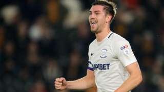 Defender Paul Huntington scored Preston's equaliser against Nottingham Forest