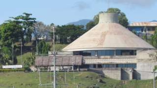 The National Parliament building in Honiara