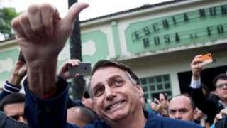 Jair Bolsonaro after voting